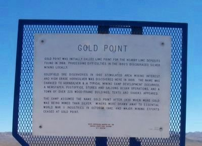 Gold Point Marker image. Click for full size.