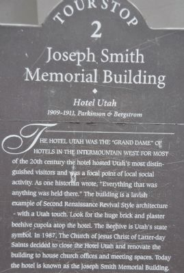 Tour Stop #2 on the Utah Heritage Foundation Downtown Walking Tour image. Click for full size.