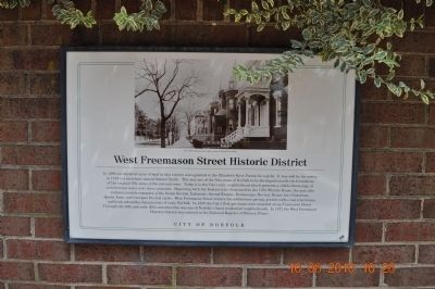 West Freemason Street Historic District Marker image. Click for full size.