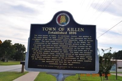 Town of Killen Marker (Side 1) image. Click for full size.
