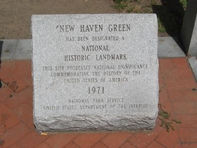 New Haven Green Marker image. Click for full size.
