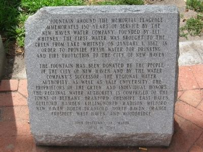 New Haven Water Company Marker image. Click for full size.