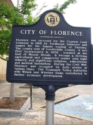 City of Florence Marker image. Click for full size.
