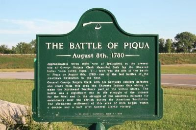The Battle of Piqua Marker image. Click for full size.