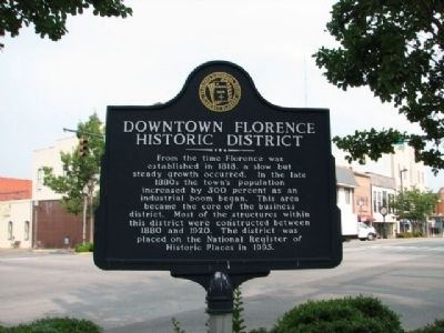 Downtown Florence Historic District Marker image. Click for full size.