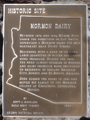 Mormon Dairy Marker image. Click for full size.