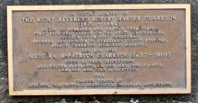 The Right Reverend & Mrs Robert Harper Clarkson Marker image. Click for full size.