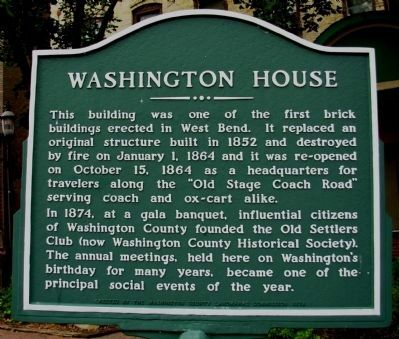 Washington House Marker image. Click for full size.