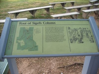 Rout of Sigel's Column Marker image. Click for full size.
