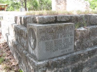 Masonic Corner Stone image. Click for full size.