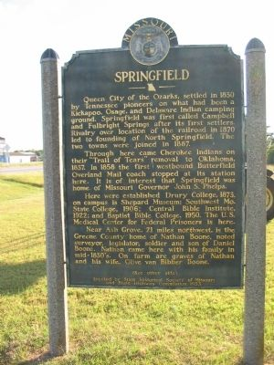 Springfield Marker image. Click for full size.