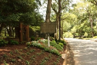 The Home of Charles Jones Jenkins, Jr., LL. D. Marker, looking west along Cumming Road image. Click for full size.