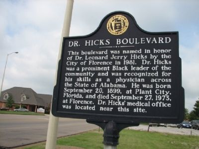Dr. Hicks Boulevard Marker image. Click for full size.