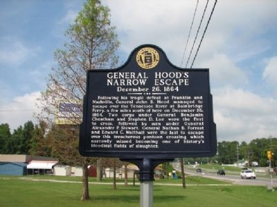 General Hood's Narrow Escape Marker image. Click for full size.