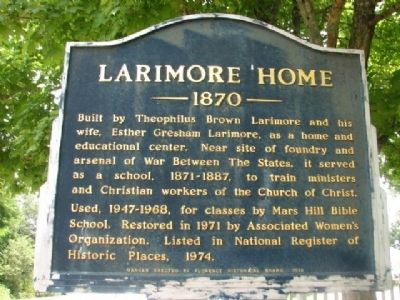 Larimore Home 1870 Marker image. Click for full size.