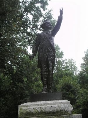 Closeup of Major Joseph Winston Statue image. Click for full size.