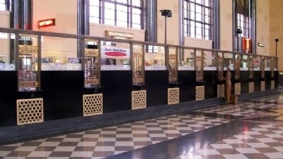 Omaha Union Station Ticket Windows image. Click for full size.
