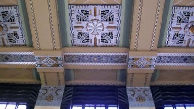 Omaha Union Station Art Deco Ceiling image. Click for full size.