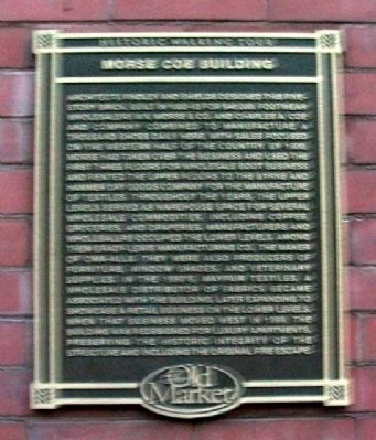 Morse Coe Building Marker image. Click for full size.