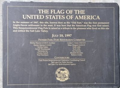 The Flag of the United States of America Marker image. Click for full size.