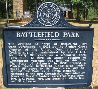 Battlefield Park Marker image. Click for full size.