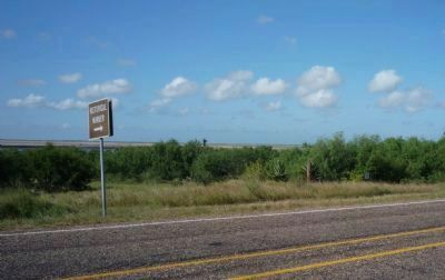 View from the Battle of Palmito Ranch Marker toward Port Isabel and South Padre Island image. Click for full size.