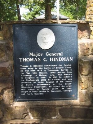 Major General Thomas C. Hindman Marker image. Click for full size.