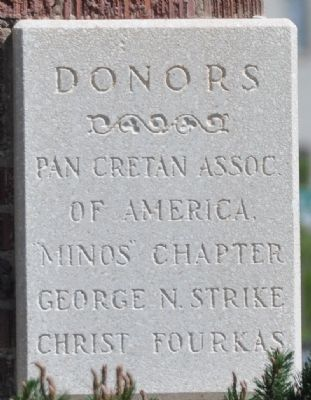 Donor Plaque at Southwest Corner of Cathedral image. Click for full size.