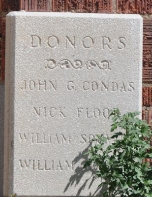 Donor Plaque at Northwest Corner of Cathedral image. Click for full size.