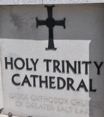 Holy Trinity Cathedral Sign image. Click for full size.
