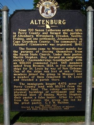 Altenburg Marker image. Click for full size.
