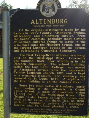 Altenburg Marker (back) image. Click for full size.