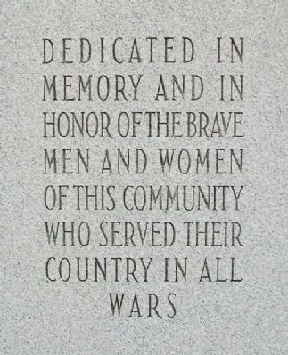 Littlestown War Memorial Inscription image. Click for full size.