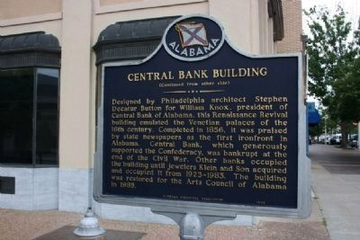 The Lightning Route / Central Bank Building Marker Side B image. Click for full size.