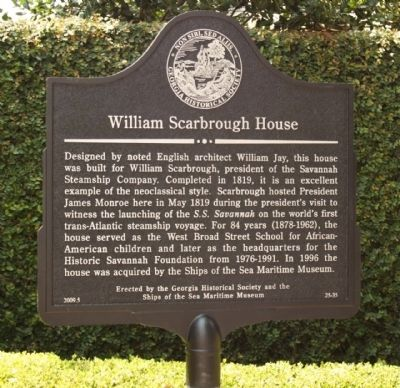 William Scarbrough House Marker image. Click for full size.