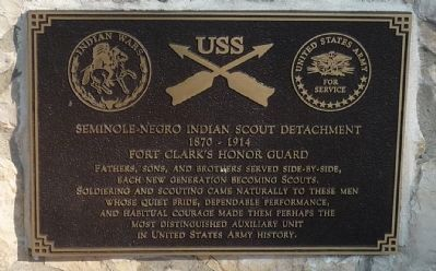 Seminole-Negro Indian Scout Detachment Marker image. Click for full size.