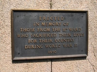 Wooster Square Park Veteran's Memorial Marker image. Click for full size.