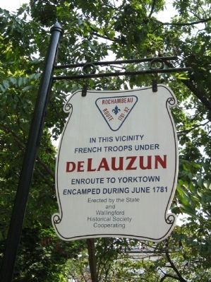deLauzun Encampment Marker image. Click for full size.