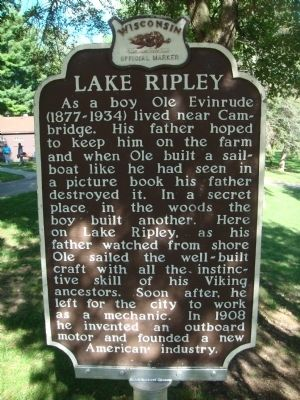 Lake Ripley Marker image. Click for full size.