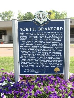 North Branford Marker image. Click for full size.