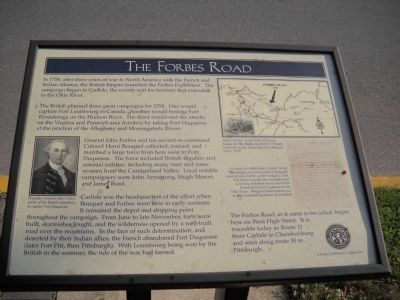 The Forbes Road Marker image. Click for full size.