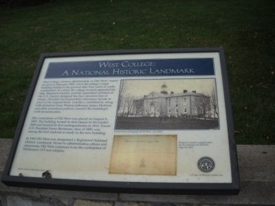 West College: A National Historic Landmark Marker image. Click for full size.
