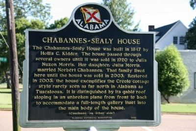 Chabannes - Sealy House Marker Side A image. Click for full size.