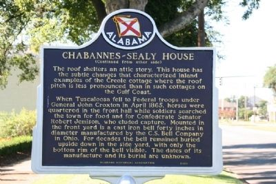 Chabannes - Sealy House Marker Side B image. Click for full size.