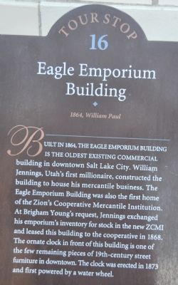 Eagle Emporium Building Marker image. Click for full size.
