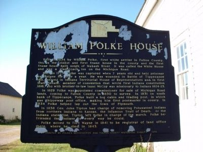 Obverse View - - William Polke House Marker image. Click for full size.