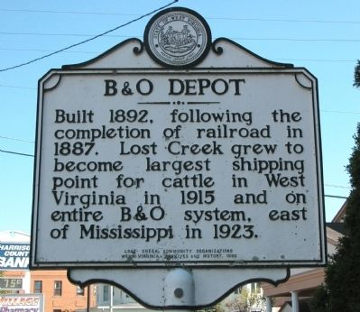 B & O Depot Marker image. Click for full size.