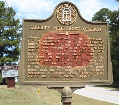 Liberty Methodist Church Marker image. Click for full size.