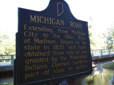 Obverse Side - - Michigan Road Marker image. Click for full size.