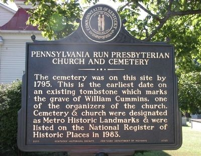 Pennsylvania Run Presbyterian Church and Cemetery Marker image. Click for full size.